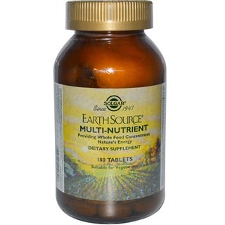 Solgar Earth Source Multinutrient Tablets (180 Count)