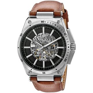 Michael Kors Men's MK9030 'Wilder' Automatic Brown Leather Watch