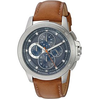 Michael Kors Men's MK8518 'Ryker' Chronograph Brown Leather Watch