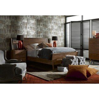 Curated Whitney Townhouse Brown Wood Bedframe