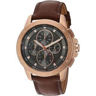 Michael Kors Men's MK8519 'Ryker' Chronograph Brown Leather Watch