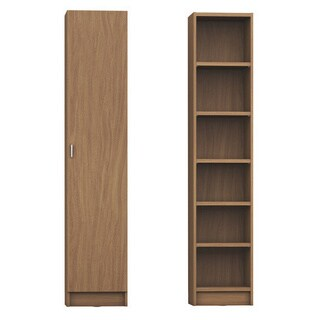 Manhattan Comfort Greenwich 6- Shelf Narrow Venti 2.0 Bookcase with Doors