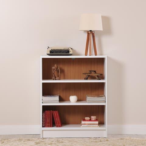 Manhattan Comfort Greenwich 3- Shelf Wide Grande 1.0 Bookcase