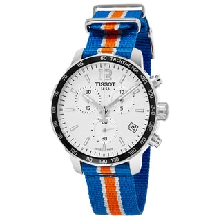 Tissot Men's T095.417.17.037.06 'Quickster' Silver Dial Blue Fabric Strap Swiss