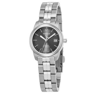 Tissot Women's T049.310.44.067.00 'Pr 100' Anthracite Dial Titanium Bracelet Swiss Quartz Watch