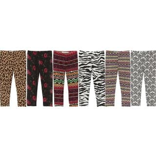 Riviera Girls Multicolor Polyester Printed Leggings (6-Pack)|https://ak1.ostkcdn.com/images/products/12747330/P19524500.jpg?impolicy=medium