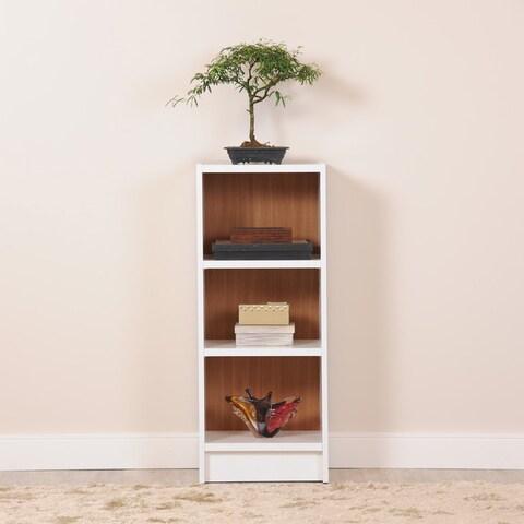 Manhattan Comfort Greenwich 3- Shelf Narrow Tall 1.0 Bookcase