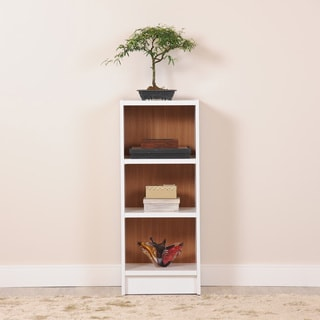 Manhattan Comfort Greenwich 3- Shelf Narrow Tall 1.0 Bookcase