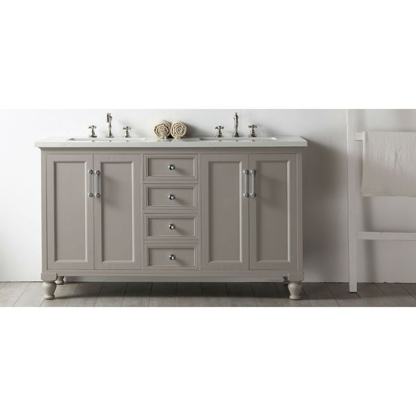 gray double sink vanity. legion furniture 60\ gray double sink vanity