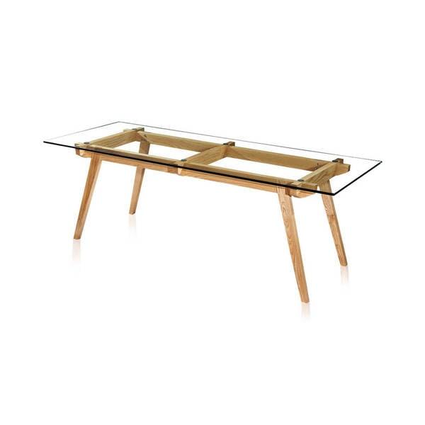 Shop Kardiel Sticotti Wood Glass Top MidCentury Modern Dining - Mid century modern glass top dining table