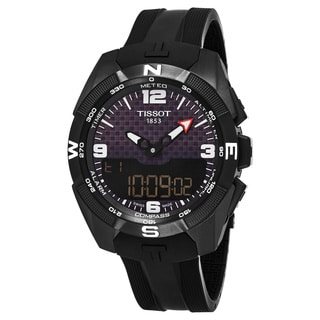 Tissot Men's T091.420.47.057.01 'T Touch Expert' Carbon Fiber Dial Black Rubber Strap Titanium Multifunction Swiss Quartz Watch