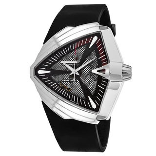 Hamilton Men's H24655331 'Ventura' Black Dial Black Rubber Strap Swiss Automatic Watch