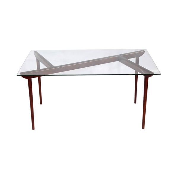 Shop Kardiel Deco Timber KO Mid-Century Modern Glass Top