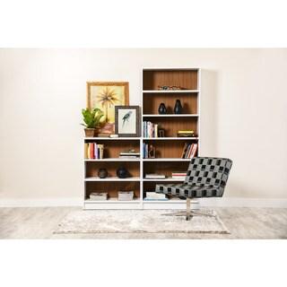 Manhattan Comfort Greenwich 2- Piece Bookcase 9- Wide Shelves