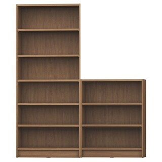 Manhattan Comfort Greenwich 2- Piece Bookcase 9- Wide Shelves
