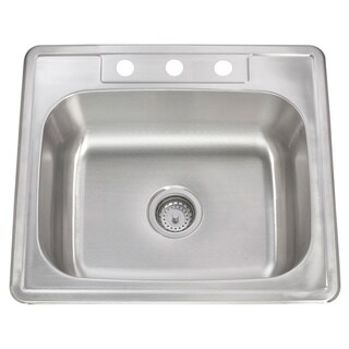 20-gauge Stainless Steel 25-inch x 22-inch Drop-in Sink