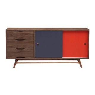 Kardiel Color Pop Mid-century Modern 2-Door Credenza