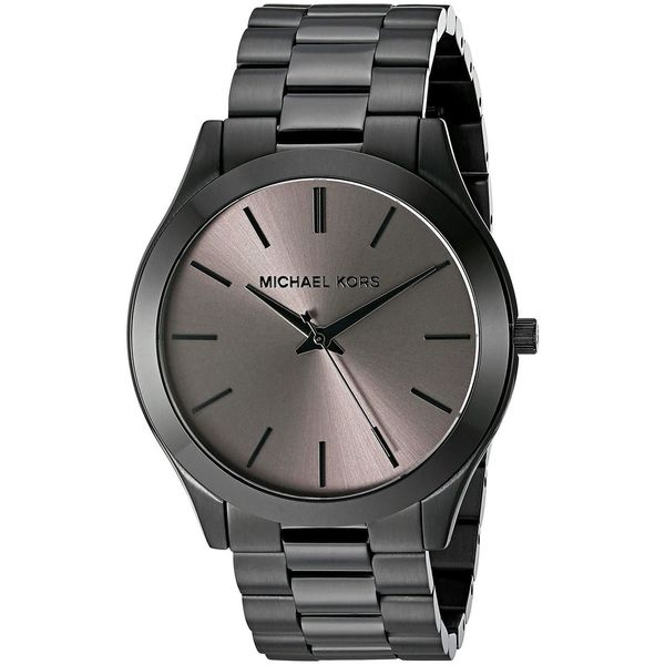 58949edc83d7 Shop Michael Kors Men s MK8507  Slim Runway  Black Stainless Steel Watch -  Free Shipping Today - Overstock - 12747425