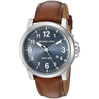 Michael Kors Men's MK8501 'Paxton' Brown Leather Watch