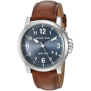 Michael Kors Men's MK8501 'Paxton' Brown Leather Watch https://ak1.ostkcdn.com/images/products/12747436/P19524651.jpg?impolicy=medium