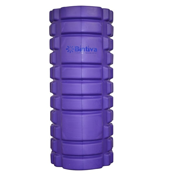 Bintiva Reinforced Black/Purple Hollow Foam Roller