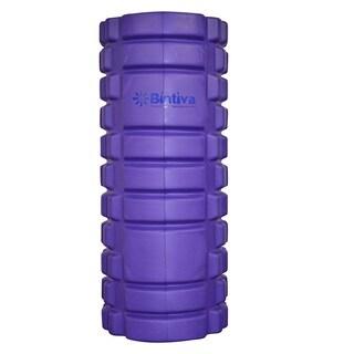 Bintiva Reinforced Black/Purple Hollow Foam Roller
