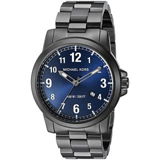 Michael Kors Men's MK8499 'Paxton' Black Stainless Steel Watch