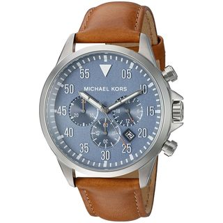 Michael Kors Men's MK8490 'Gage' Chronograph Brown Leather Watch