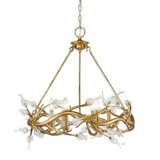 Golden Lighting 9942-6 GL Aiyana Steel 6-light Chandelier