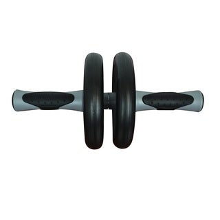 Bintiva Black/Grey Dual Fitness Ab Wheel