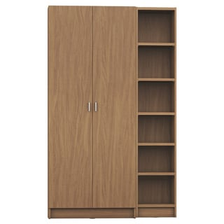 Manhattan Comfort Greenwich 2- Piece Bookcase 12- Wide and Narrow Shelves with 2 Wide Doors