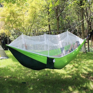 ETCBuys Blue/Green Mesh 2-person Parachute Mosquito Net Camping Hammock w/ Bag