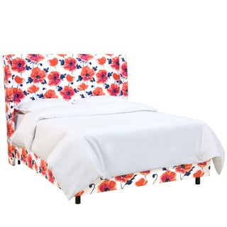 Skyline Furniture Papaver Maraschino Wingback Bed