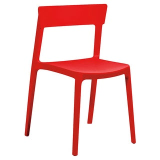 Rho Red Modern Stackable Side Chair (Set of 4)