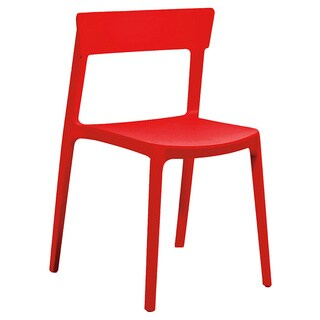Rho Red Modern Stackable Dining Chair (Set of 4)