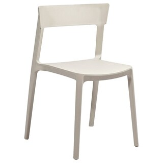 Rho Beige Modern Stackable Dining Chair (Set of 4)