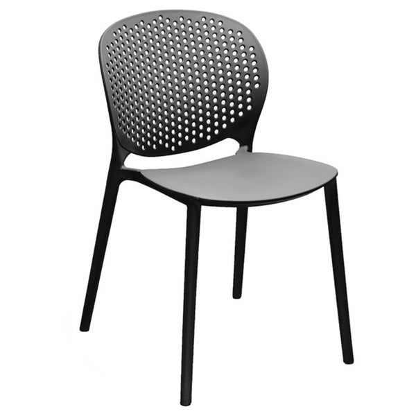 Muut Black Grey Modern Stackable Dining Chair Set Of 4