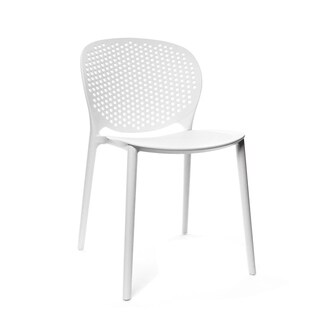 Muut White Modern Stackable Dining Chair (Set of 4)