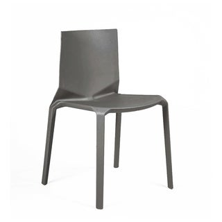 Vector Dark Grey Modern Stackable Dining Chair (Set of 4)