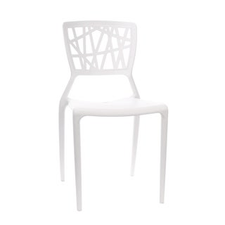 Vocci White Modern Stackable Dining Chair (Set of 4)
