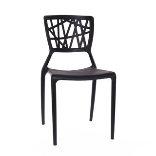 Vocci Black Modern Stackable Arm Chair (Set of 4)