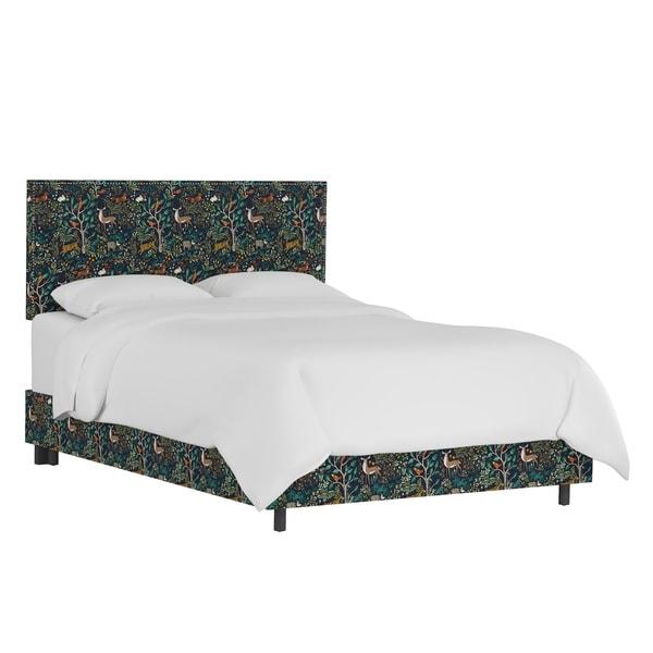 Skyline Furniture Folkland Admiral Nail Button Border Bed