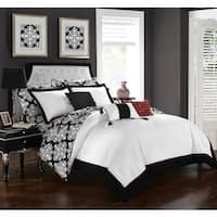 Chic Home 10-Piece Lalita BIB Black Comforter Set