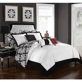 Chic Home 10-Piece Lalita BIB Black Comforter Set