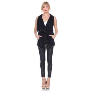 Stanzino Women's Polyester Faux Fur Vest