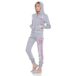 Stanzino Women's Fleece-lined Hoodie Sweatsuit