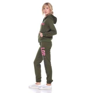 Stanzino Women's Fleece-lined Hoodie Sweatsuit