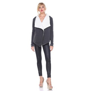 Stanzino Women's Sherpa-lined Long-sleeve Cardigan