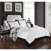 Chic Home 4-Piece Maribeth Black Duvet Cover Set