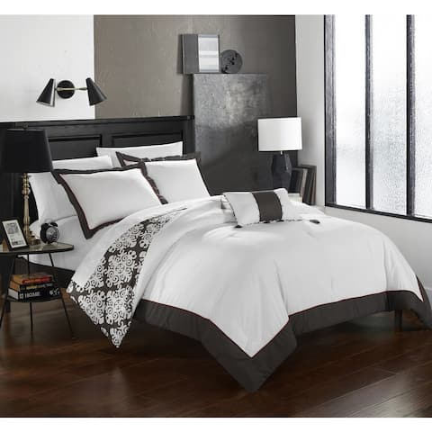 Chic Home 4-Piece Maribeth Grey Duvet Cover Set